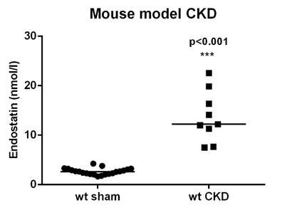 Endostatin Values in a CKD panel